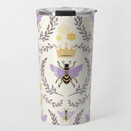 Queen Bee - Lavander Purple and Yellow Travel Mug