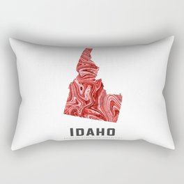 Idaho - State Map Art - Abstract Map - Red Rectangular Pillow