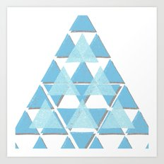 Blue Sky Mountain Art Print
