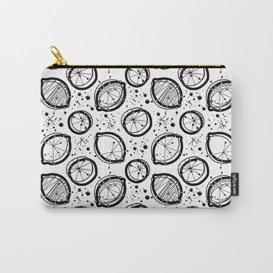 Atomic Lemonade_Black and White Carry-All Pouch