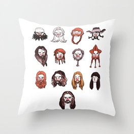 Just Dwarves Throw Pillow