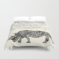 rhino Duvet Covers featuring Rhino by famenxt