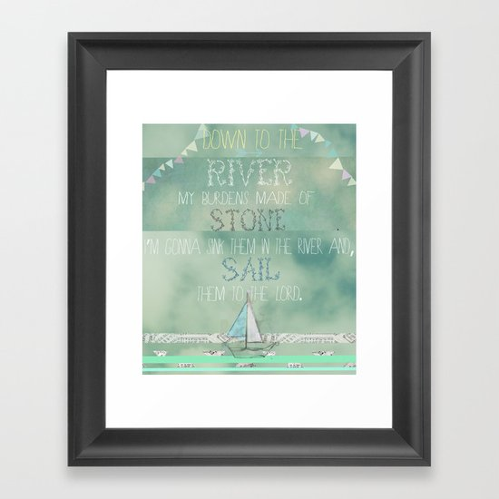 """""""Down to the river..."""" Framed Art Print"""
