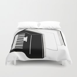 The sound of the pages Duvet Cover