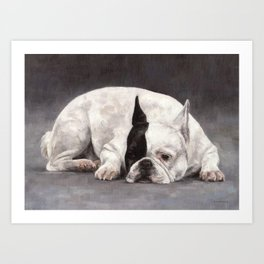 French Bulldog Painting Art Print