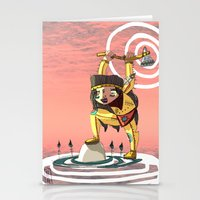 indiana Stationery Cards featuring Go indiana by Hugues Monki Maton