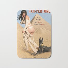 """Rah-pertone"" - The Playful Pinup - Halloween Mummy Parody Pinup by Maxwell H. Johnson Bath Mat"
