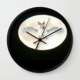 Moonrabbit 6 (alternate) Wall Clock