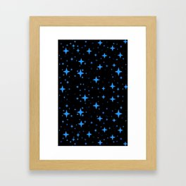 Bright Blue  Stars in Space Framed Art Print