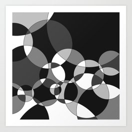 Circles in Black+White Art Print