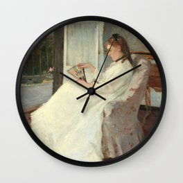 The Artist's Sister at a Window by Berthe Morisot Wall Clock