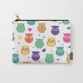 Rainbow Owl Cuties Carry-All Pouch