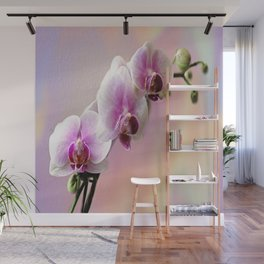 Pastel Rainbow Orchid Wall Mural
