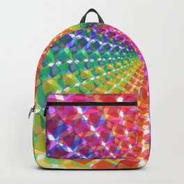 Colorful mosaic pattern design artwork- colorful christmas gifts- pixel art Backpack