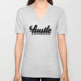 hustle lettering Unisex V-Neck