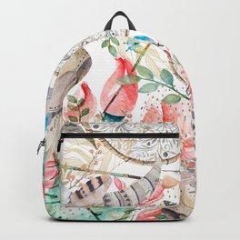 Boho skull and cactus Backpack