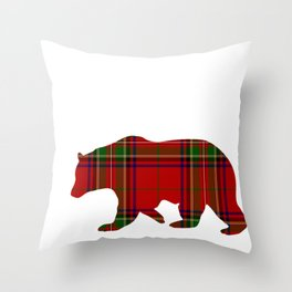 Mama Bear Red Plaid for Mom Mommy or Mother Throw Pillow