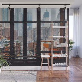 New York City Window Wall Mural