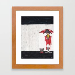 A Rainy Day at the Linear Land Circus Framed Art Print