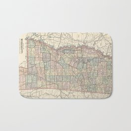 Vintage Map of Mississippi (1891) Bath Mat