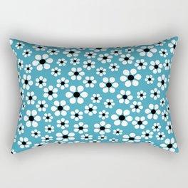 Dizzy Daisies - teal - more colors Rectangular Pillow