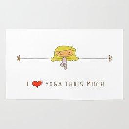 I love yoga girl Rug