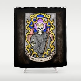 Necromancer Stained Glass Emblem Shower Curtain
