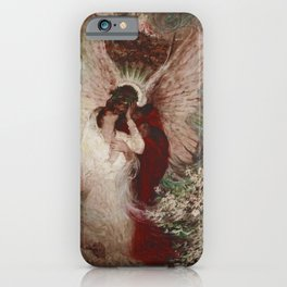 The Lovers romantic portrait painting by Dean Cornwell iPhone Case