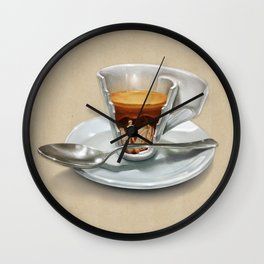 Italian coffee 2.0 Wall Clock