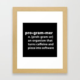 Programmer dictionary definition Framed Art Print