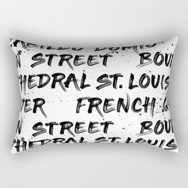 New Orleans Graffiti Rectangular Pillow