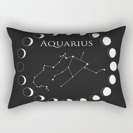 Aquarius Zodiac Sign Rectangular Pillow