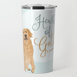 Heart of Gold // Golden Retriever Travel Mug