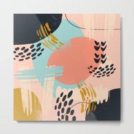 Brushstrokes abstract art Metal Print
