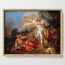 """Jacques-Louis David """"Combat between Minerva and Mars"""" Serving Tray"""