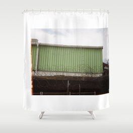 woodstock security Shower Curtain