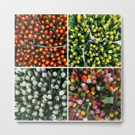 Tulips from Holland - orange & yellow Metal Print