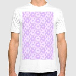Floral Checker Lilac  T-shirt