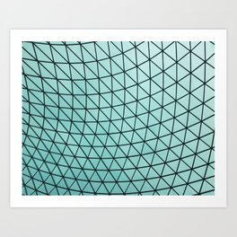 Ceiling at the British Museum in London, England Art Print