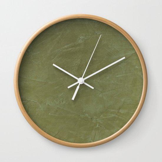 Italian Style Tuscan Olive Green Stucco - Luxury - Comforter - Bedding - Throw Pillows - Rugs Wall Clock