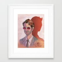 daredevil Framed Art Prints featuring Daredevil by MagzArt