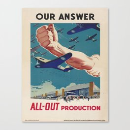 Vintage poster - All-Out Production Canvas Print