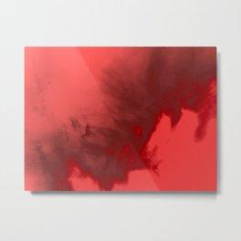 Red Water Vapor Metal Print