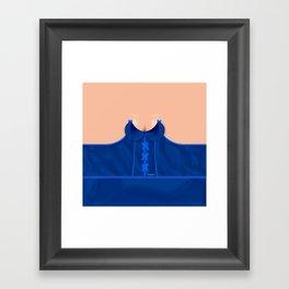 Lingeramas - Sexy Royal Blue Lingerie Top Framed Art Print