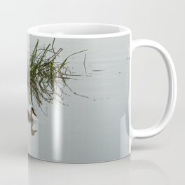 Young Duck swimming in the river Coffee Mug