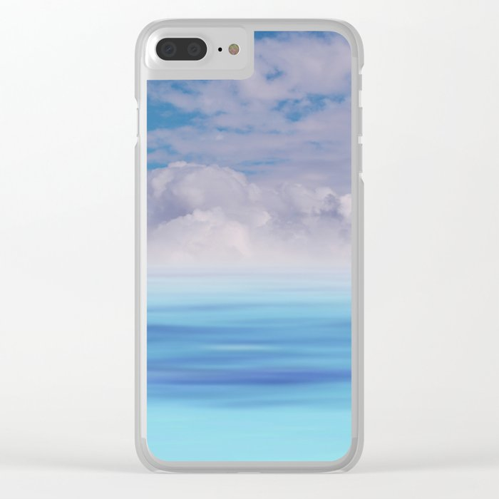 The Sea is Calm Clear iPhone Case