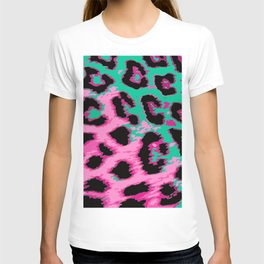 Hot Pink and Aqua Leopard Spots T-shirt
