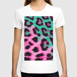 Hot Pink and Aqua Leopard Spots T-shirt