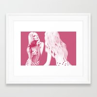 mirror Framed Art Prints featuring Mirror by POLILOVI