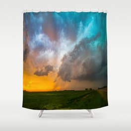Glorious - Stormy Sky and Kansas Sunset Shower Curtain